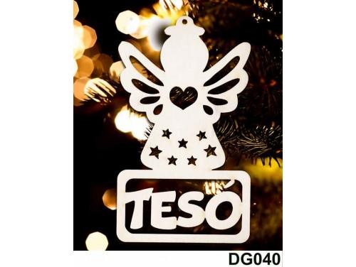 (DG040) Karácsonyi Díszgömb - Tesó Angyal – Karácsonyfa dísz – Karácsonyi ajándék