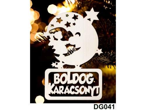 (DG041) Karácsonyi Díszgömb - Boldog Karácsonyt Hold – Karácsonyfa díszek – Karácsonyi ajándék ötletek