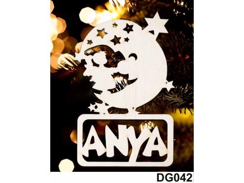 (DG042) Karácsonyi Díszgömb - Anya Hold – Karácsonyfa díszek – Karácsonyi ajándék ötletek
