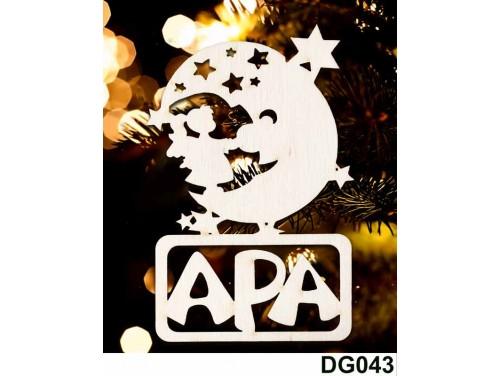 (DG043) Karácsonyi Díszgömb - Apa Hold – Karácsonyfa díszek – Karácsonyi ajándék ötletek