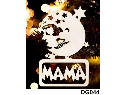 (DG044) Karácsonyi Díszgömb - Mama Hold – Karácsonyfa dísz – Karácsonyi ajándék