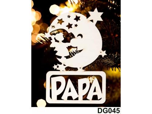 (DG045) Karácsonyi Díszgömb - Papa Hold – Karácsonyfa díszek – Karácsonyi ajándék ötletek