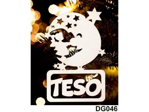 (DG046) Karácsonyi Díszgömb - Tesó Hold – Karácsonyfa dísz – Karácsonyi ajándék
