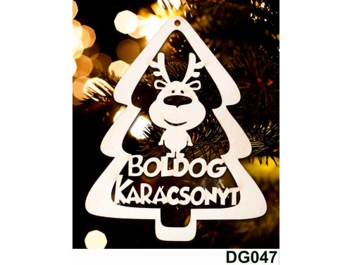 (DG047) Karácsonyi Díszgömb - Boldog Karácsonyt Fenyő – Karácsonyfa díszek – Karácsonyi ajándék ötletek