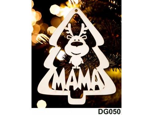 (DG050) Karácsonyi Díszgömb - Mama Fenyő - Karácsonyfa dísz – Karácsonyi ajándék