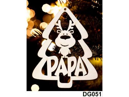 (DG051) Karácsonyi Díszgömb - Papa Fenyő - Karácsonyfa díszek – Karácsonyi ajándék ötletek
