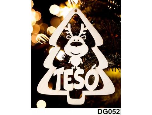 (DG052) Karácsonyi Díszgömb - Tesó Fenyő - Karácsonyfa dísz – Karácsonyi ajándék