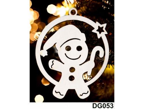 (DG053) Karácsonyi Díszgömb - Mézi - Karácsonyfa díszek – Karácsonyi ajándék ötletek