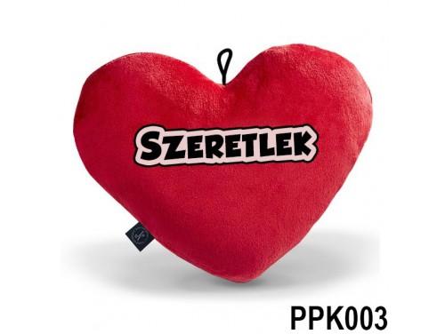 (PPK001) Plüss Szív Párna Kicsi 25x21cm Piros -  Szeretlek - Valentin Napi Ajándékok
