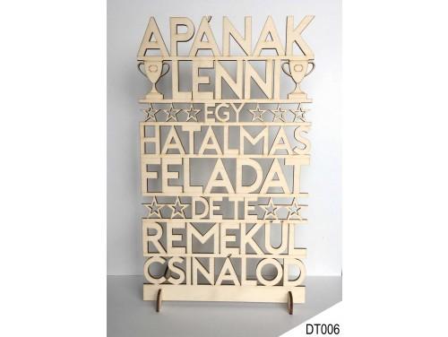 (DT006) Dekor tábla 31,5 cm x 20 cm - Apának lenni - Ajándék Apának - Ajándék Apák Napjára