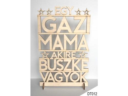 (DT012) Dekor tábla 31,5 cm x 20 cm - Egy igazi Mama – Ajándék Nagymamáknak