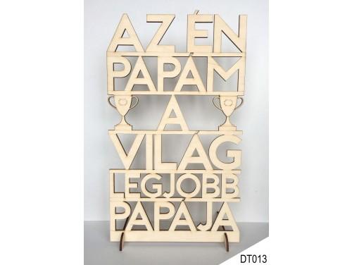 (DT013) Dekor tábla 31,5 cm x 20 cm - Az én Papám – Ajándék nagyszülőknek – Ajándék Nagypapának