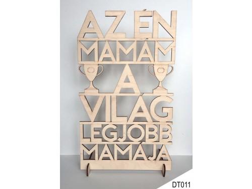 (DT011) Dekor tábla 31,5 cm x 20 cm - Az én Mamám – Ajándék Nagymamáknak