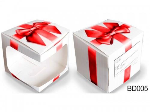 (BD005) Bögre doboz - Piros Masnis Doboz – Díszdoboz