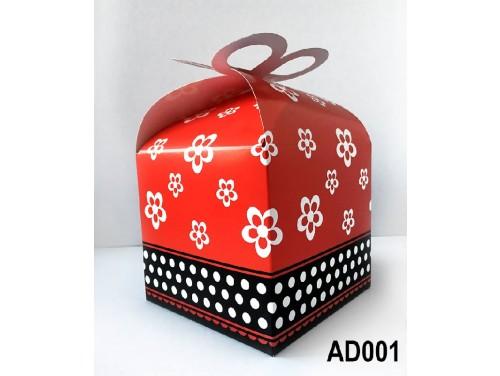 (AD001) Ajándék doboz 14x11x11 cm - Piros doboz - Ajándék Csomagolás Ötletek