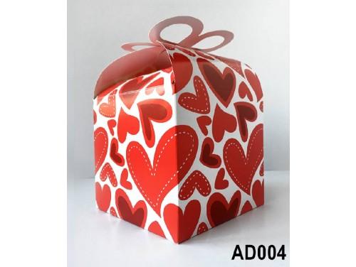 (AD004) Ajándék doboz 14x11x11 cm - Szives doboz - Ajándék Csomagoló - Szerelmes Ajándék doboz