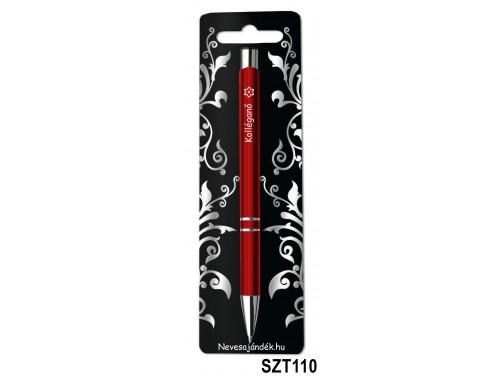 (SZT110) Gravírozott szines golyóstoll 13,6 cm - Kolléganő - Ajándék Kolléganőknek