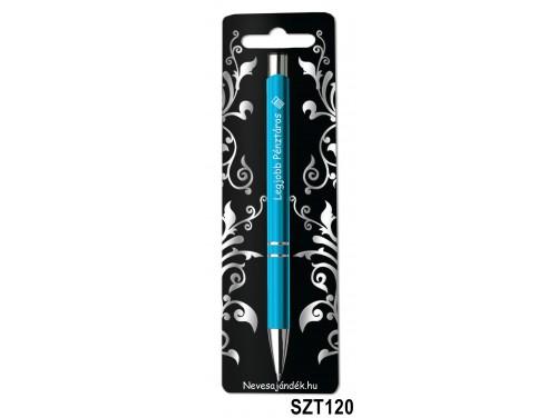 (SZT120) Gravírozott szines golyóstoll 13,6 cm - Legjobb Pénztáros - Ajándék Nőknek, Féfriaknak