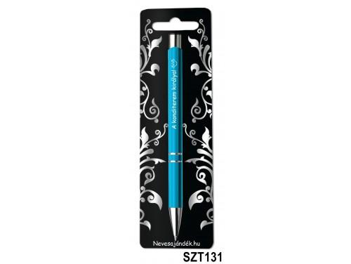 (SZT131) Gravírozott szines golyóstoll 13,6 cm - A konditerem Királya! feliratú gravírozott toll - Ajándék Férfiaknak