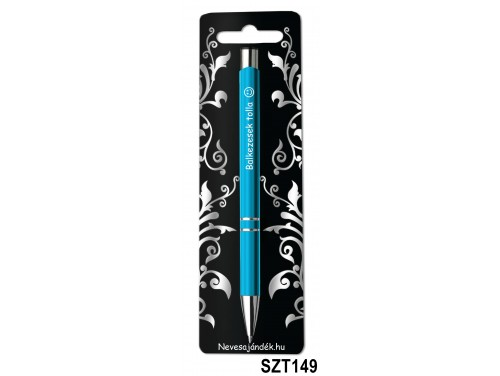 (SZT149) Gravírozott szines golyóstoll 13,6 cm - Balkezesek tolla - Vicces Ajándékok