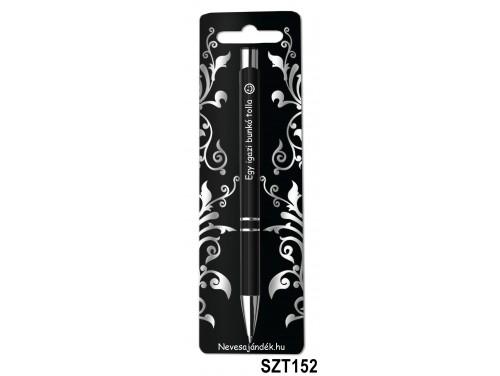 (SZT152) Gravírozott szines golyóstoll 13,6 cm - Egy igazi bunkó tolla - Vicces Ajándékok