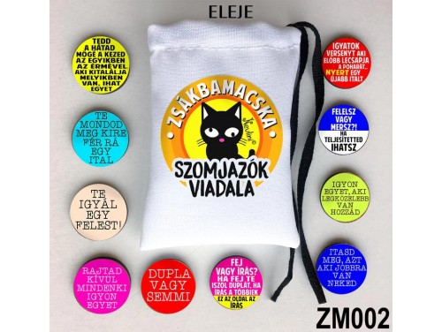 (ZM002) Zsákbamacska - Szomjazók viadala – Ivós Játékok