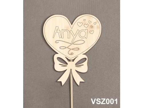 (VSZ001) Virág dekoráció 43 cm - Anya - Kreatív hobby naturfa – Ajándék Anyáknak - Anyák napi ajándék