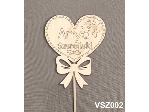 (VSZ002) Virág dekoráció 43 cm - Anya Szeretlek – Kreatív hobby naturfa – Ajándék Anyáknak - Anyák napi ajándék