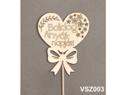 (VSZ003) Virág dekoráció 43 cm - Boldog Anyák Napját – Kreatív hobby naturfa – Ajándék Anyáknak - Anyák napi ajándék