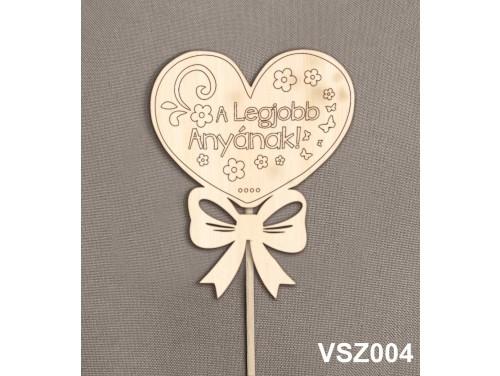 (VSZ004) Virág dekoráció 43 cm - A legjobb anyának – Kreatív hobby naturfa   – Ajándék Anyáknak - Anyák napi ajándék