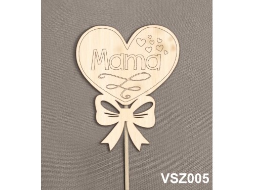 (VSZ005) Virág dekoráció 43 cm - Mama – Kreatív hobby naturfa - Ajándék Nagymamáknak