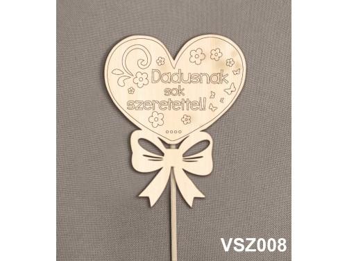 (VSZ008) Virág dekoráció 43 cm - Dadusnak sok szeretettel – Kreatív hobby naturfa