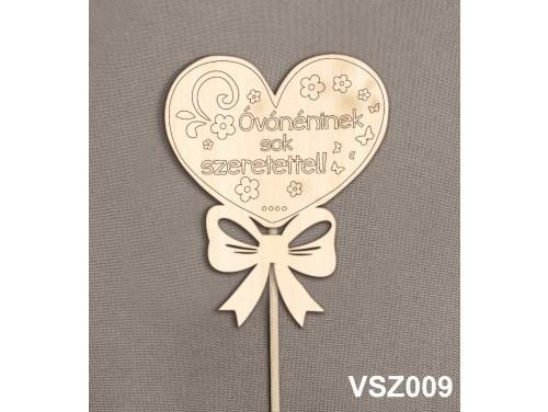 (VSZ009) Virág dekoráció 43 cm - Óvónéninek sok szeretettel – Kreatív hobby naturfa