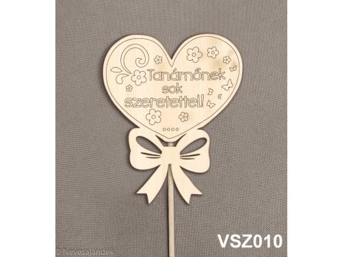 (VSZ010) Virág dekoráció 43 cm - Tanárnőnek sok szeretettel – Kreatív hobby, naturfa