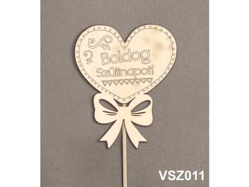 (VSZ011) Virág dekoráció 43 cm - Boldog Szülinapot – Kreatív hobby naturfa