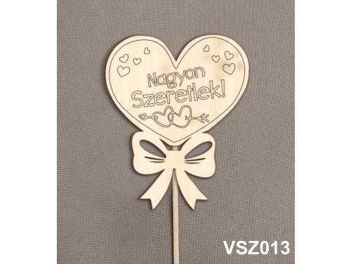 (VSZ013) Virág dekoráció 43 cm - Nagyon Szeretlek - Kreatív hobby naturfa