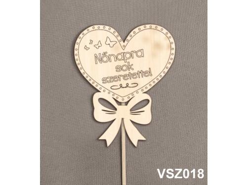 (VSZ018) Virág dekoráció 43 cm - Nőnapra sok szeretettel – Kreatív hobby naturfa