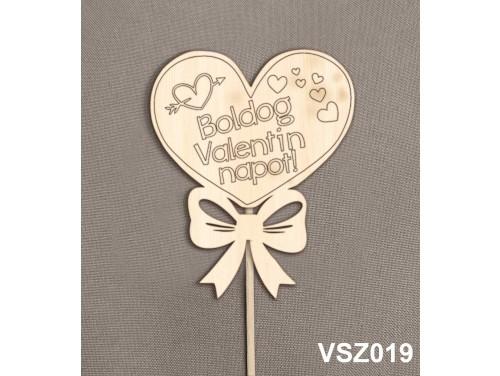 (VSZ019) Virág dekoráció 43 cm - Boldog Valentin napot – Kreatív hobby naturfa