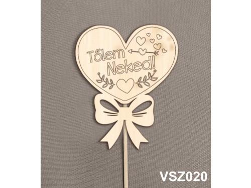 (VSZ020) Virág dekoráció 43 cm - Tőlem Neked – Kreatív hobby naturfa