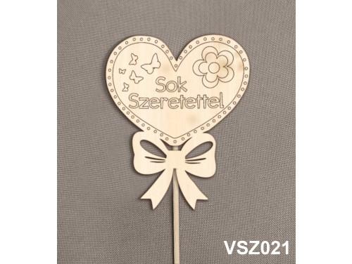 (VSZ021) Virág dekoráció 43 cm - Sok szeretettel – Kreatív hobby naturfa