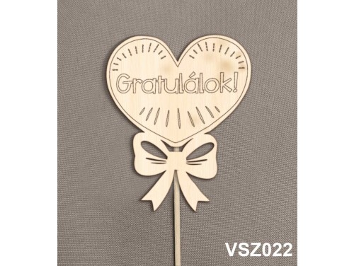 (VSZ022) Virág dekoráció 43 cm - Gratulálok – Kreatív hobby - Ballagási ajándék