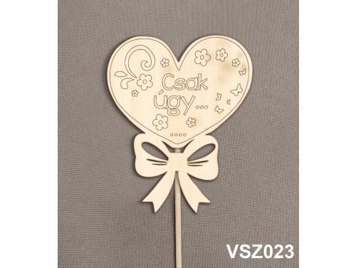 (VSZ023) Virág dekoráció 43 cm - Csak úgy... – Kreatív hobby naturfa