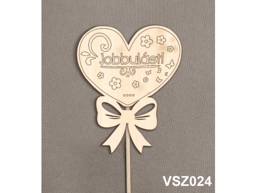 (VSZ024) Virág dekoráció 43 cm - Jobbulást – Kreatív hobby naturfa