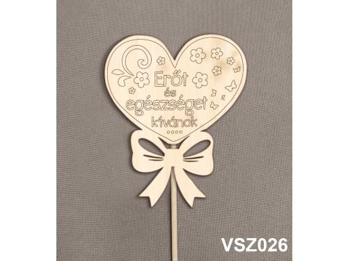 (VSZ026) Virág dekoráció 43 cm - Erőt és Egészséget – Kreatív hobby naturfa