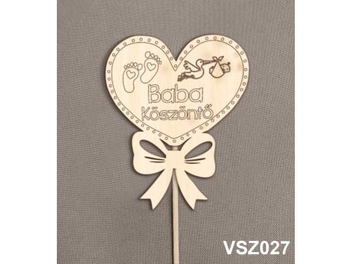 (VSZ027) Virág dekoráció 43 cm - Baba köszöntő – Kreatív hobby naturfa