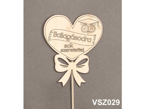 (VSZ029) Virág dekoráció 43 cm - Ballagásodra – Kreatív hobby naturfa