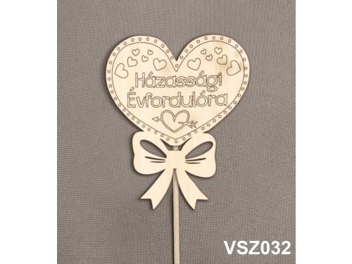 (VSZ032) Virág dekoráció 43 cm - Házassági évfordulóra – Kreatív hobby naturfa