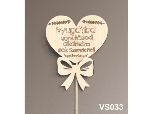 (VSZ033) Virág dekoráció 43 cm - Nyugdíjba vonulás alkalmából – Kreatív hobby naturfa