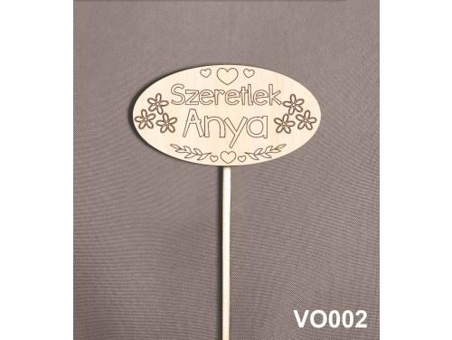 (VO002) Virág dekoráció 43 cm - Anya Szeretlek – Kreatív hobby naturfa – Ajándék Anyáknak - Anyák napi ajándék