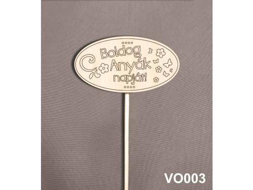 (VO003) Virág dekoráció 43 cm - Boldog Anyák napját – Anyák napi ajándék – Ajándék anyáknak